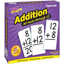 Flash Cards All Facts 169/Box 0-12 Addition By Trend Enterprises