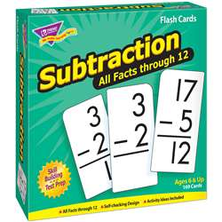 Flash Cards All Facts 169/Box 0-12 Subtraction By Trend Enterprises