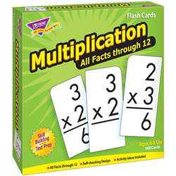 Flash Cards All Facts 169/Box 0-12 Multiplication By Trend Enterprises
