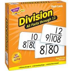 Flash Cards All Facts 156/Box 0-12 Division By Trend Enterprises