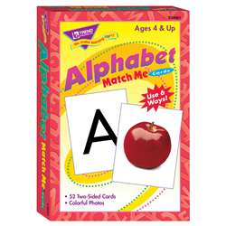 Match Me Cards Alphabet 52/Box Two-Sided Cards Ages 4 & Up By Trend Enterprises