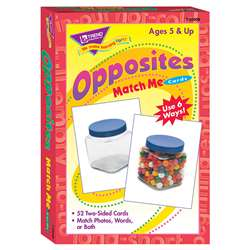 Match Me Cards Opposites 52/Box Two-Sided Cards Ages 5 & Up By Trend Enterprises