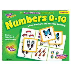 Match Me Game Numbers Ages 3 & Up 1-8 Players By Trend Enterprises