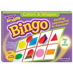 Bingo Colors & Shapes Ages 4 & Up By Trend Enterprises