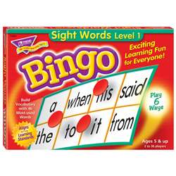 Bingo Sight Words Ages 5 & Up By Trend Enterprises
