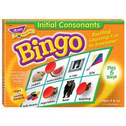 Bingo Initial Consonants Ages 4 & Up By Trend Enterprises