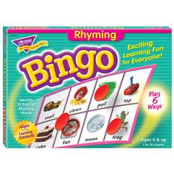 Bingo Rhyming Ages 4 & Up By Trend Enterprises