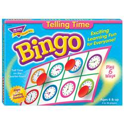 Bingo Telling Time Ages 6 & Up By Trend Enterprises