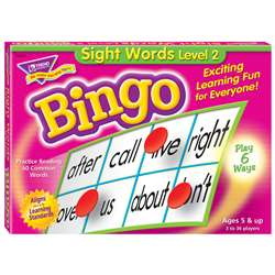 Sight Words Level 2 Bingo Game By Trend Enterprises