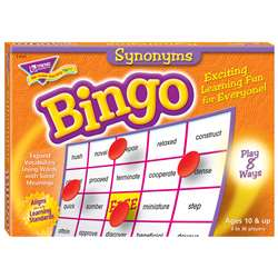 Bingo Synonyms Ages 10 & Up By Trend Enterprises