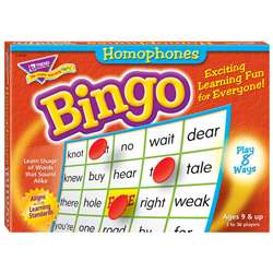 Bingo Homonyms Ages 9 & Up By Trend Enterprises