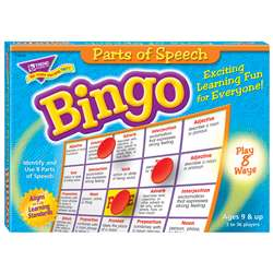 Bingo Parts Of Speech Ages 8 & Up By Trend Enterprises