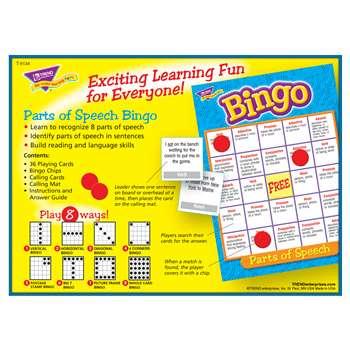 Bingo Parts Of Speech Ages 8 & Up - T-6134