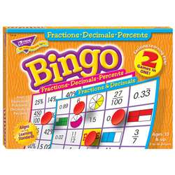 Fractions Decimals & Percents Bingo Game By Trend Enterprises