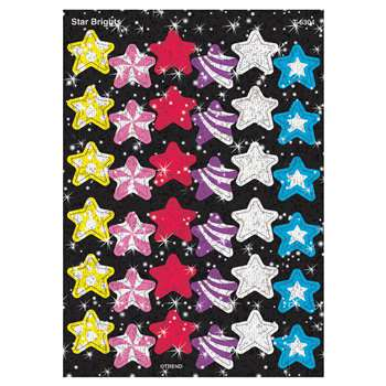 Sparkle Stickers Star Brights By Trend Enterprises