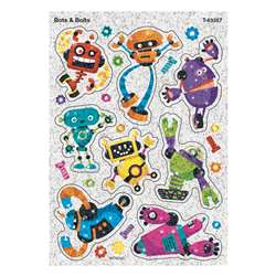 Bots & Bolts Sparkle Stickers 16 Ct, T-63357