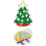Christmas Symbols Sparkle Stickers, T-63704