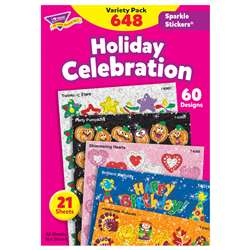 Sparkle Stickers Holiday Celebra. By Trend Enterprises