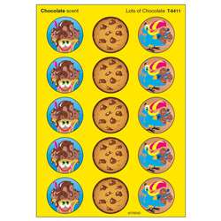 Stinky Stickers Lots Of 60/Pk Chocolate Acid-Free Chocolate By Trend Enterprises