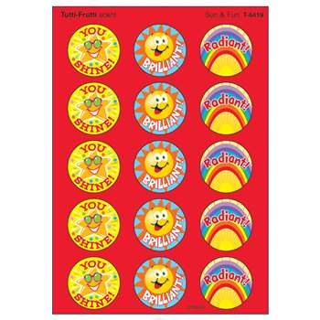 Stinky Stickers Sun & Fun 60/Pk Acid-Free Tutti-Frutti By Trend Enterprises