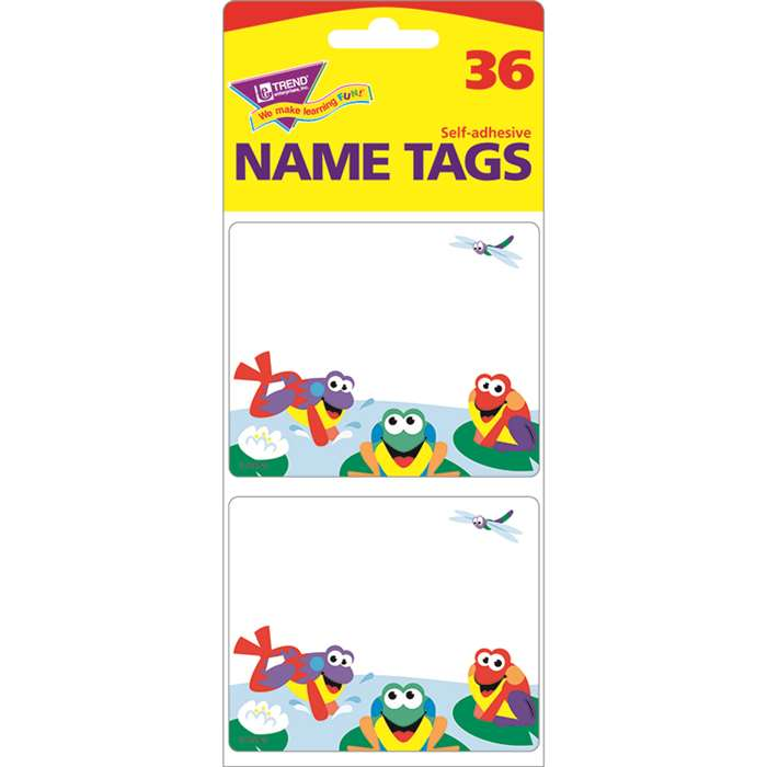 Name Tags Fun Frogs 36/Pk By Trend Enterprises