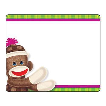 Sock Monkey Name Tags By Trend Enterprises