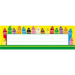 Desk Toppers Colorful 36/Pk 2X9 Crayons By Trend Enterprises