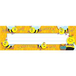 Desk Toppers Busy Bees 36/Pk 2X9 By Trend Enterprises