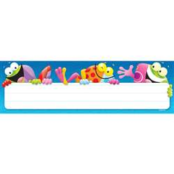 Frog Tastic Name Plates 36/Pk By Trend Enterprises
