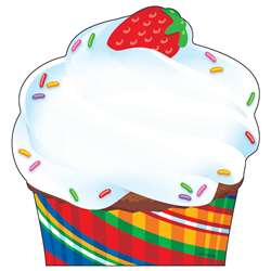 Bake Shop Cupcake Note Pad Shaped By Trend Enterprises
