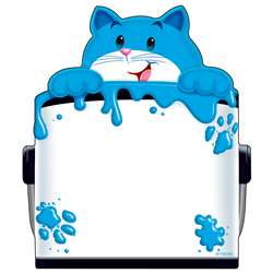 Curious Color Cat Note Pad Shaped By Trend Enterprises