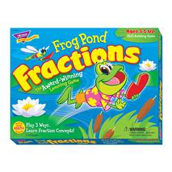 Frog Pond Fractions Game Ages 5 & Up By Trend Enterprises