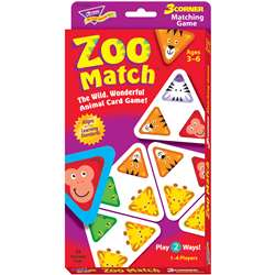 3 Corner Matching Games Zoo Match By Trend Enterprises