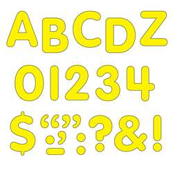 Stick-Eze 1 Letters Numbers Yellow By Trend Enterprises
