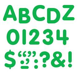 Stick-Eze 1 Letters Numbers Green 184 Uppercase 50 Numerals 90 Marks By Trend Enterprises