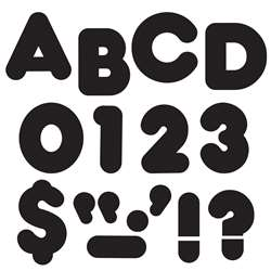 Ready Letters 3 Inch Casual Black By Trend Enterprises