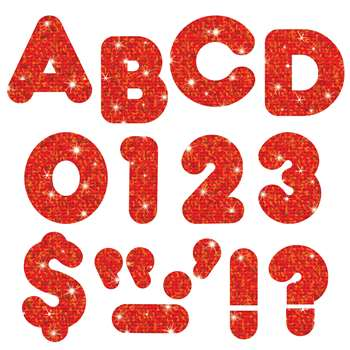 Ready Letters 3 Casual Red Sparkle Casual By Trend Enterprises