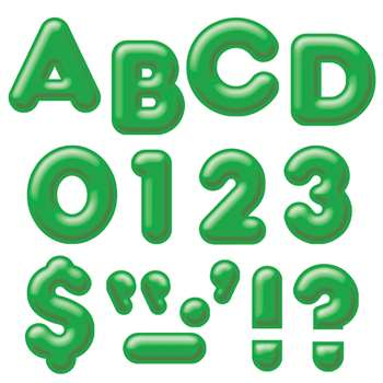 Ready Letters 4 Inch 3-D Green By Trend Enterprises