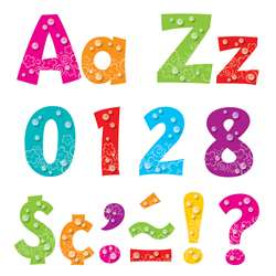 "Bubbles 4"" Playful Uppercase Lowercase Combo Pack, T-79757"