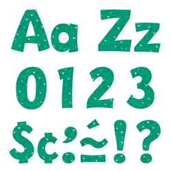 "4"" Ready Letters Teal Sparkle, T-79780"