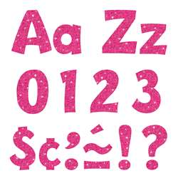 "4"" Ready Letters Hot Pink Sparkle, T-79783"
