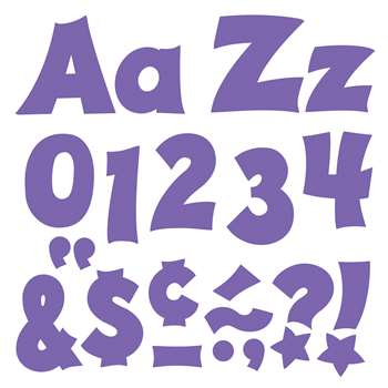 Purple 4In Combo Pack Uppercase Lowercase By Trend Enterprises