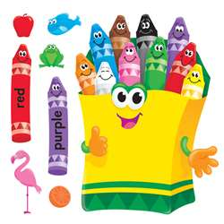 Bb Set Colorful Crayons By Trend Enterprises