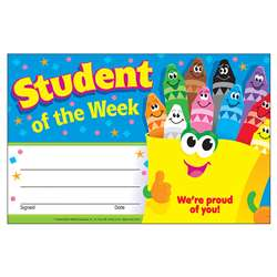 Awards Student Of The Week Crayons By Trend Enterprises