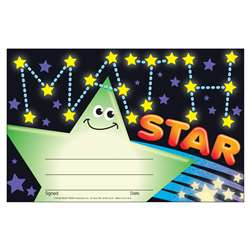 Awards Math Star By Trend Enterprises
