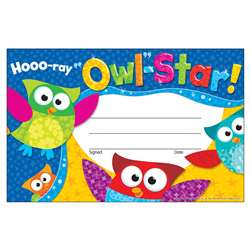 Hooo Ray Owl Star Recognition Awards By Trend Enterprises