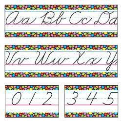 Bb Set Stained Glass Cursive Alphabet Line Z-B By Trend Enterprises