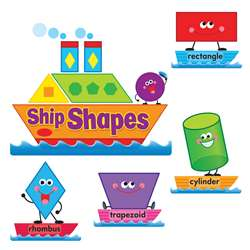 Ship Shapes & Colors Bulletin Board Set By Trend Enterprises