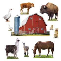 Animals On The Farm Bulletin Board Set By Trend Enterprises