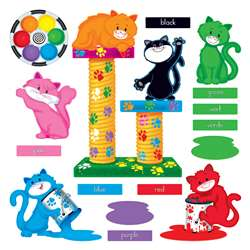 Curious Color Cats Bulletin Board Set By Trend Enterprises